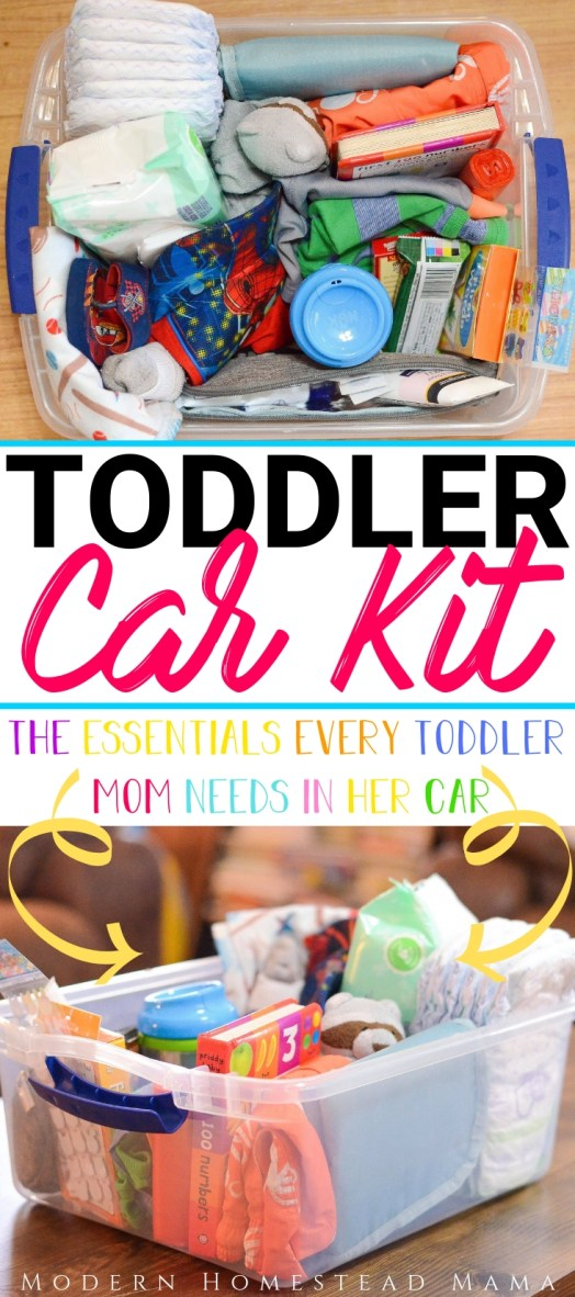 Toddler Car Kit: The Essentials Every Toddler Mom Needs In Her Car | Modern Homestead Mama