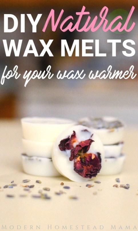 DIY Natural Wax Melts | Modern Homestead Mama