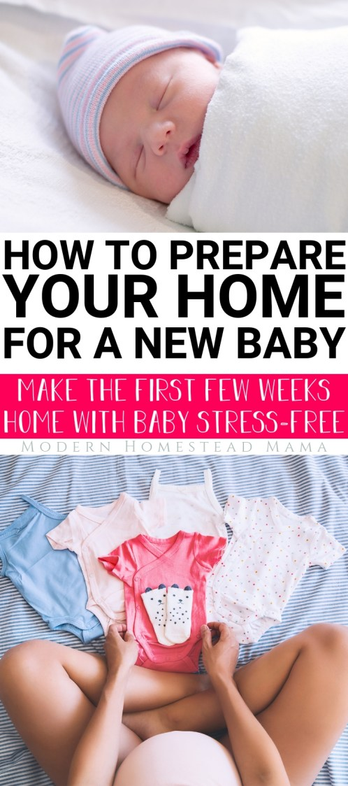How to Prepare Your Home For a New Baby | Modern Homestead Mama