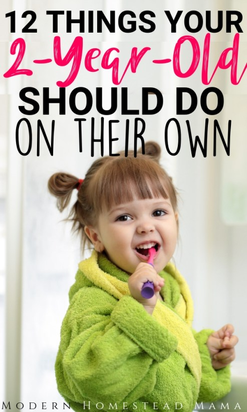 12 Things Your 2-Year-Old Should Do on Their Own | Modern Homestead Mama
