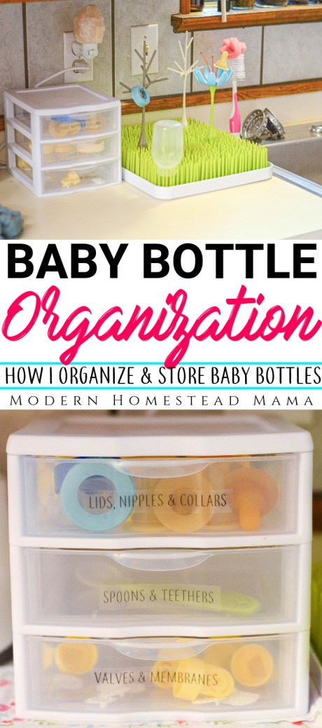 Baby Bottle Organization: How I Organize and Store Baby Bottles | Modern Homestead Mama