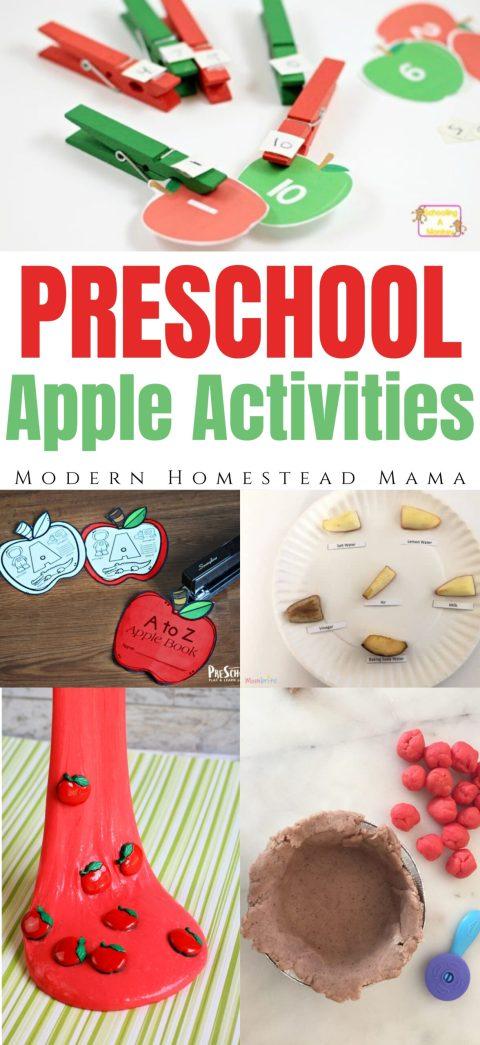Apple Activities for Preschoolers | Modern Homestead Mama