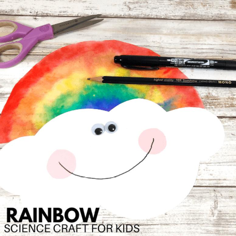 Coffee Filter Rainbow Craft