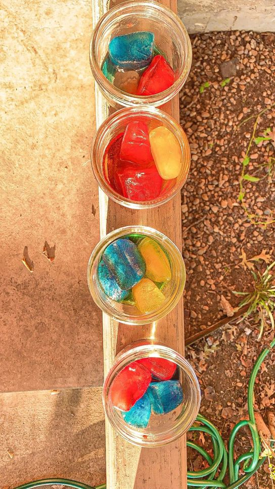 Color Mixing with Ice Cubes Science Activity