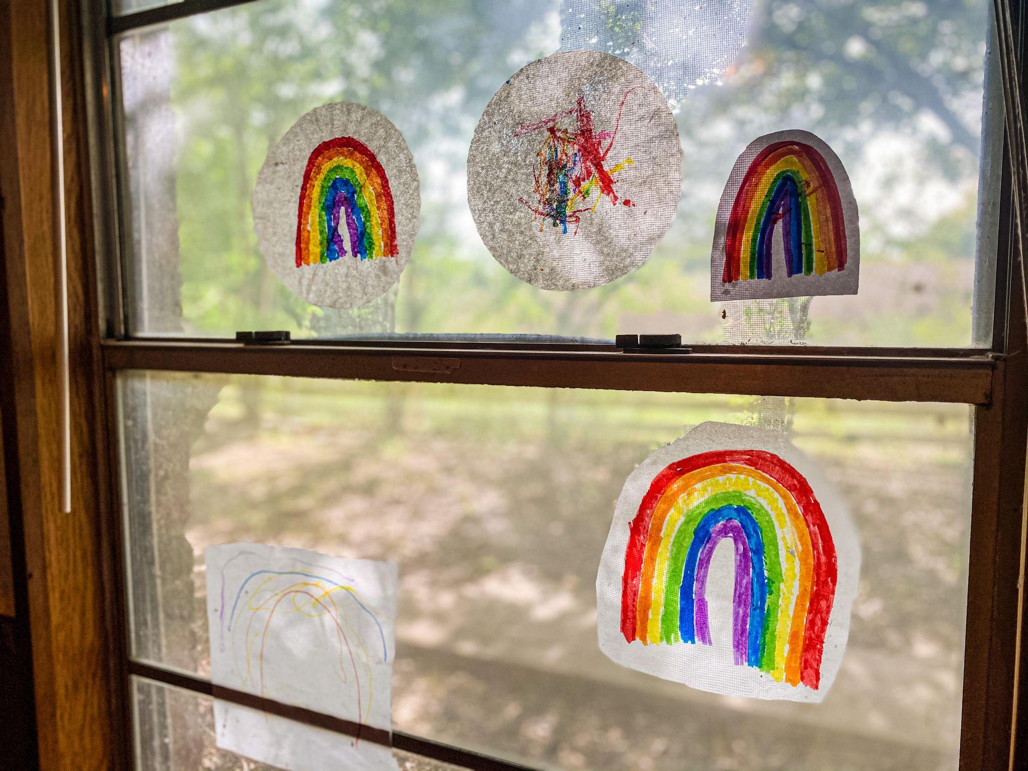Easy Rainbow Suncatchers
