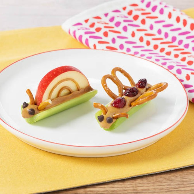 Kids Apple Food Art Snail