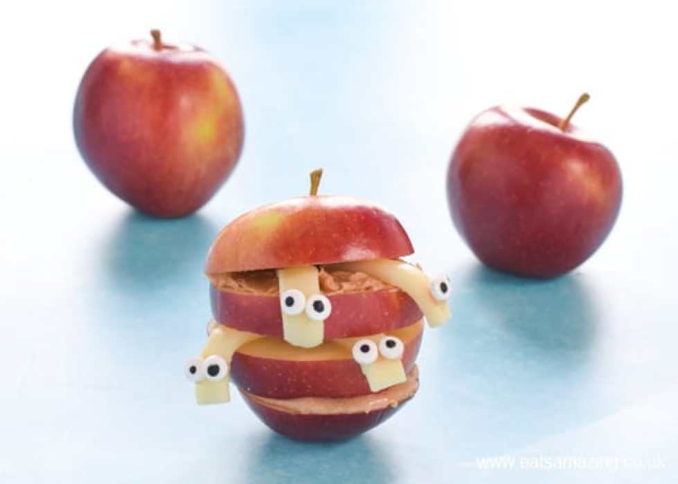 Kids Apple Food Art Wormy Apples