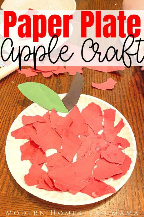 Paper Plate Apple Craft (Cut, Tear, & Glue) | Modern Homestead Mama