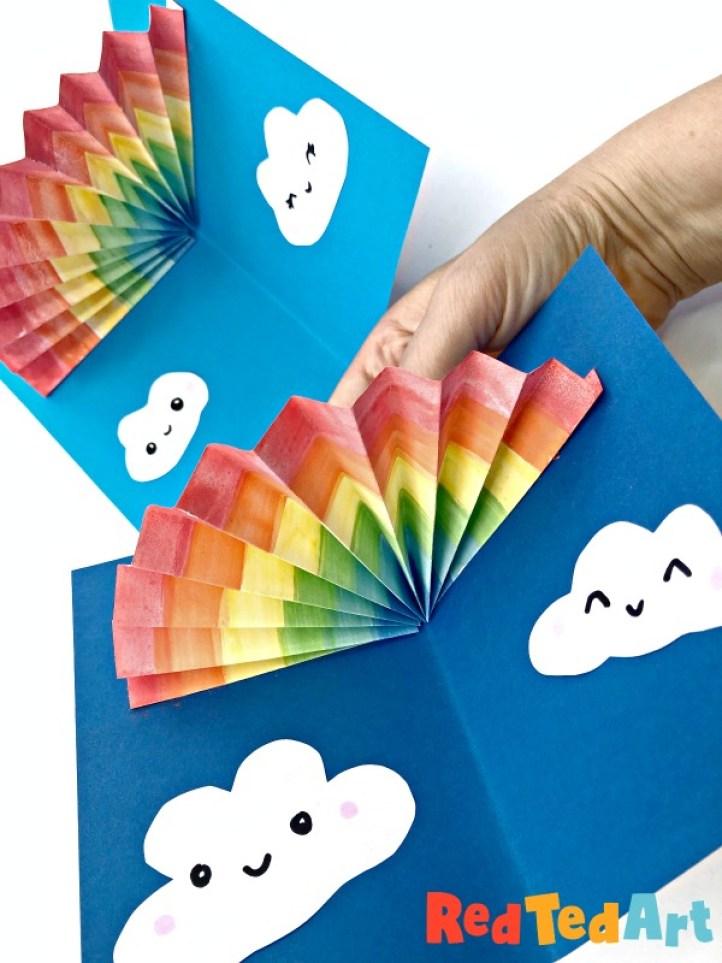 Pop Up Rainbow Card