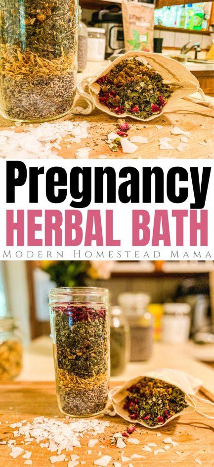Pregnancy Bath Soak - Herbal Bath with Magnesium Flakes   Modern Homestead Mama