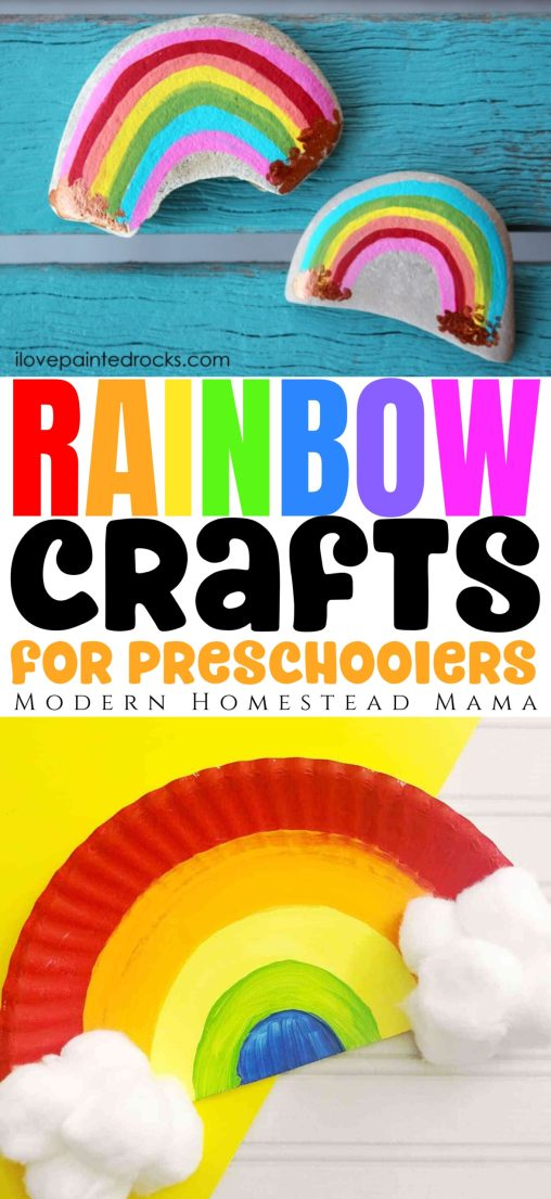 Rainbow Crafts for Preschoolers | Modern Homestead Mama