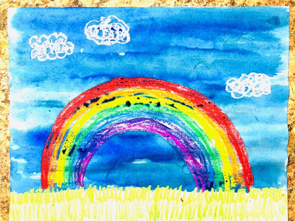 Rainbow Crayon Resist Art Project