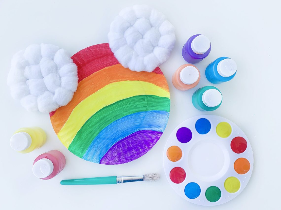 Rainbow Mickey Mouse Craft