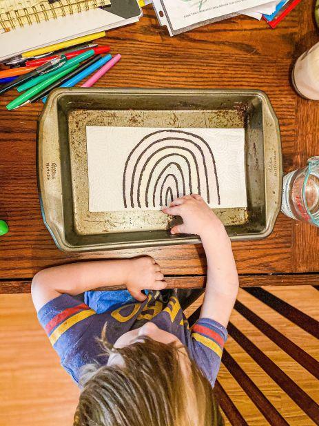 Rainbow Surprise Art Activity for Kids