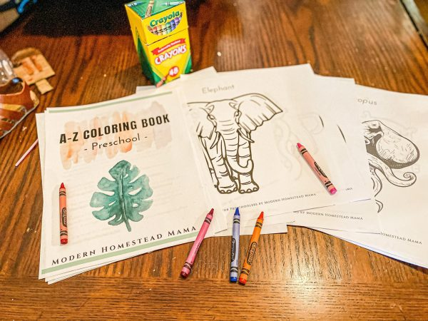 A-Z Coloring Book for Preschoolers Printable Free