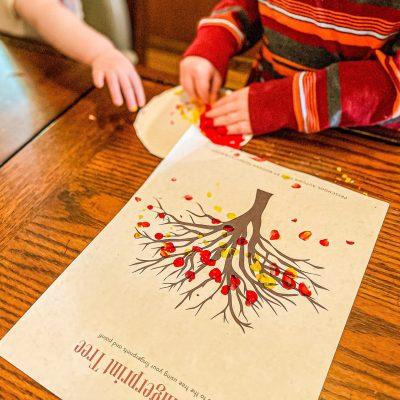 Fingerprint Fall Leaf Craft (with FREE Printable)