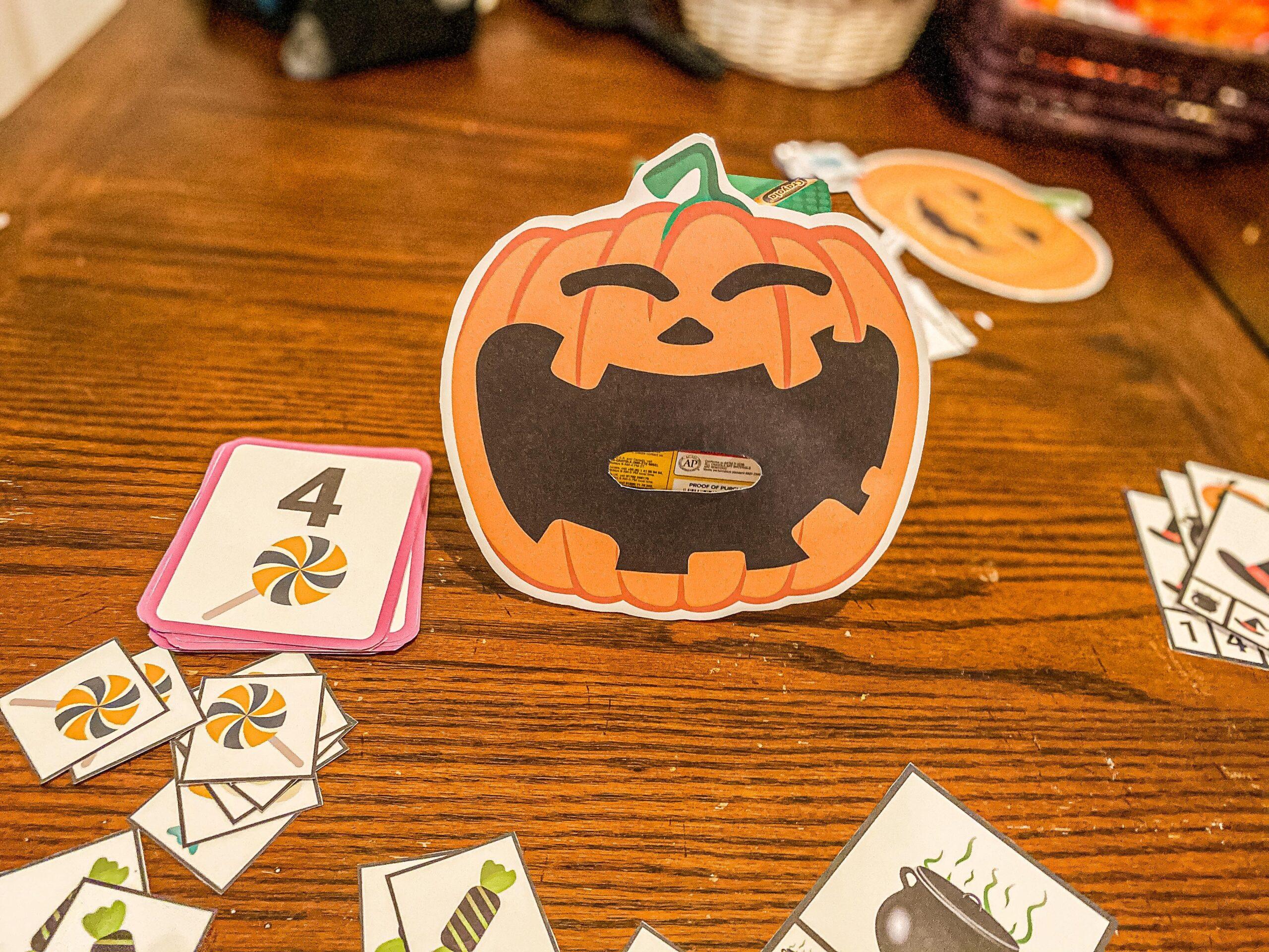 Feed the Jack-o-Lantern Printable Game
