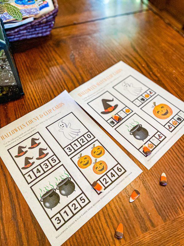 Halloween Printables for Toddlers & Preschoolers