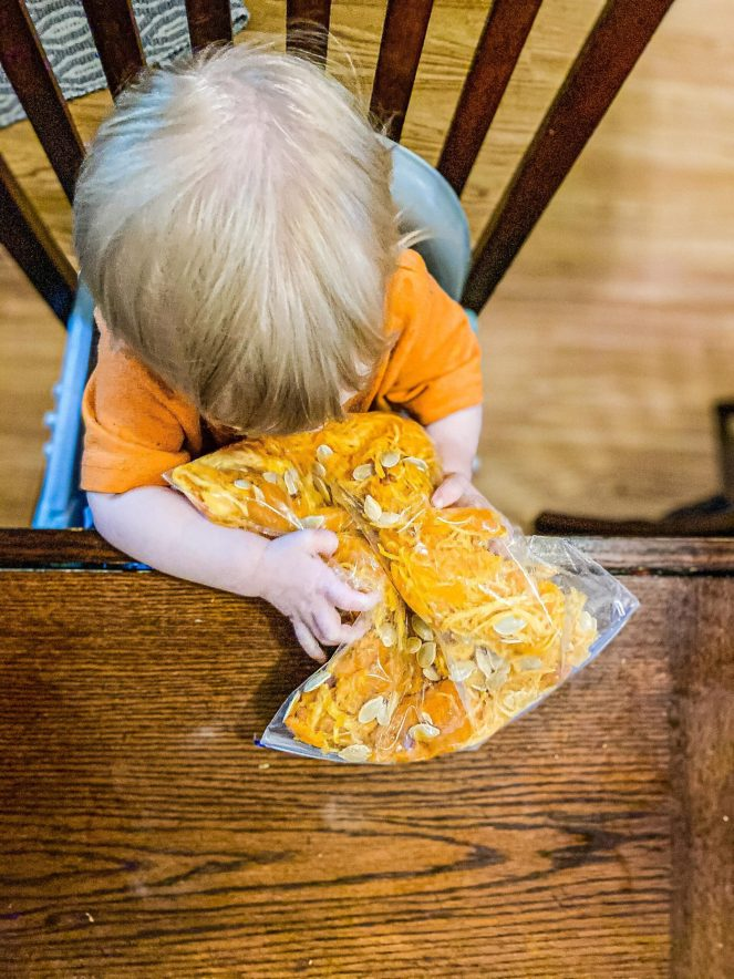 Pumpkin Guts Sensory Bag for Babies & Toddlers