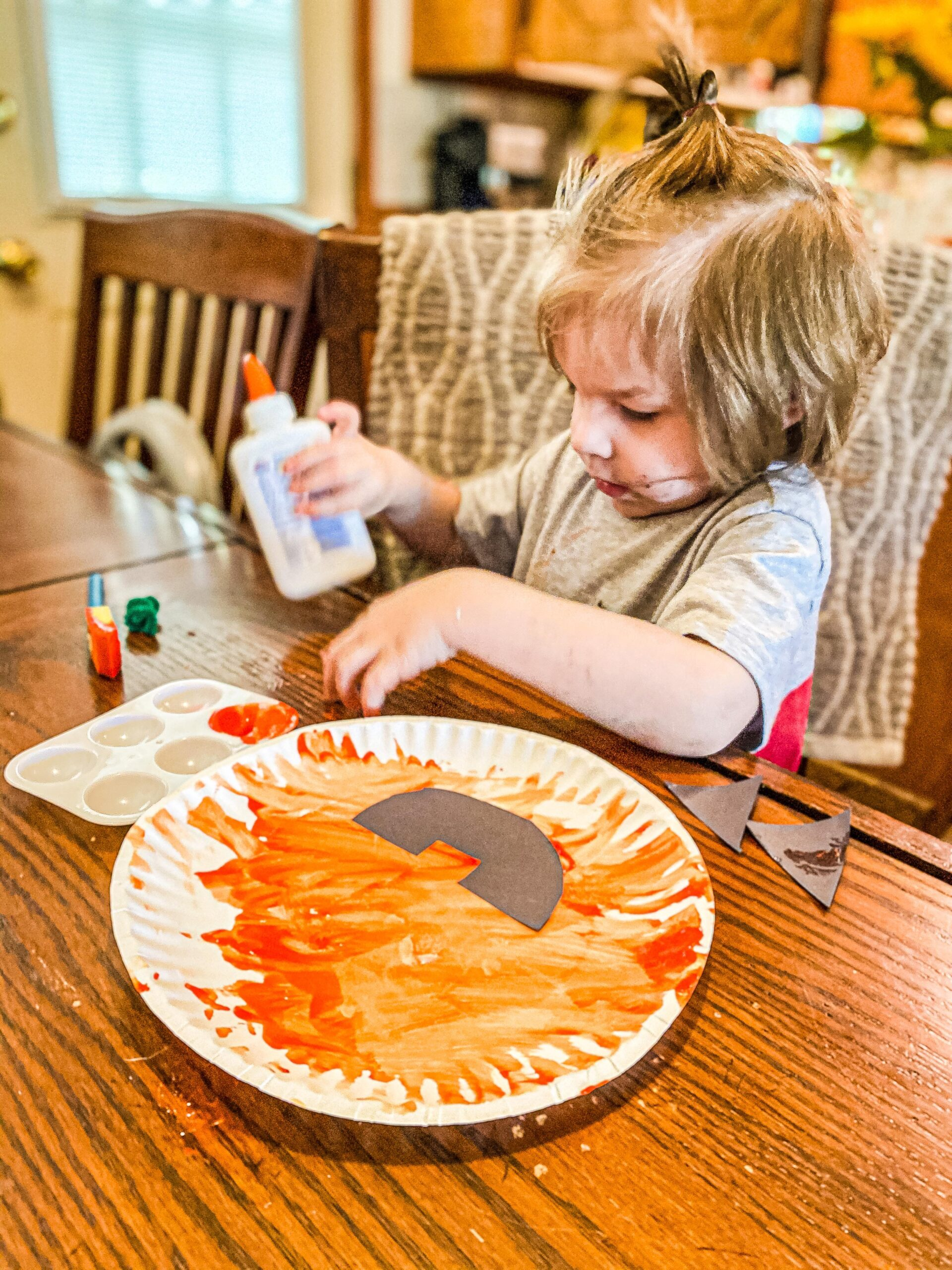 Pumpkin Paper Plate Craft