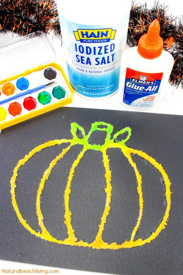 Pumpkin Salt Painting