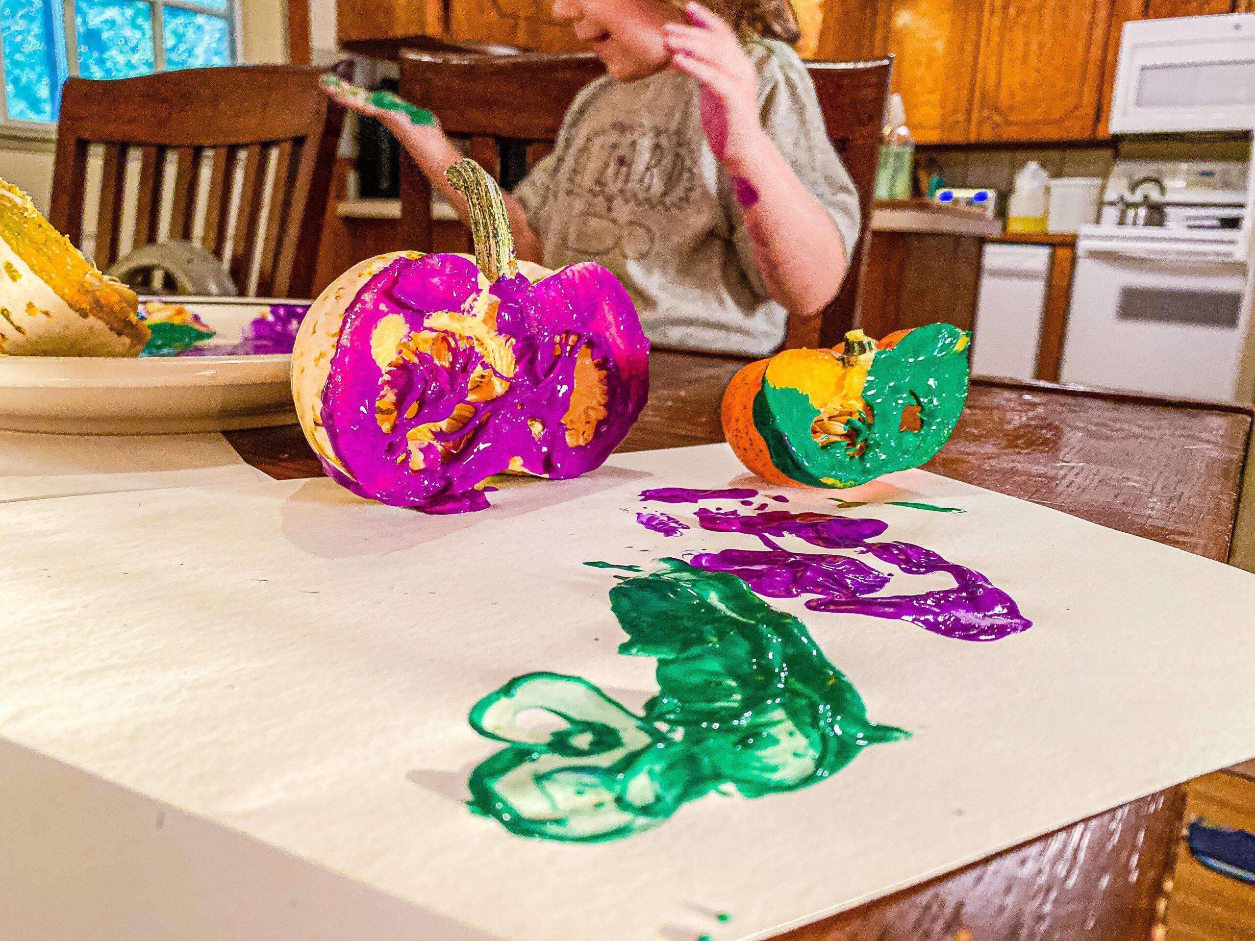Pumpkin Stamping Art for Toddlers & Preschoolers
