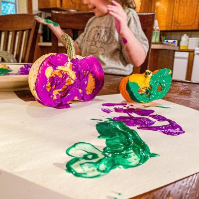 Pumpkin Stamping Art Activity for Toddlers & Preschoolers