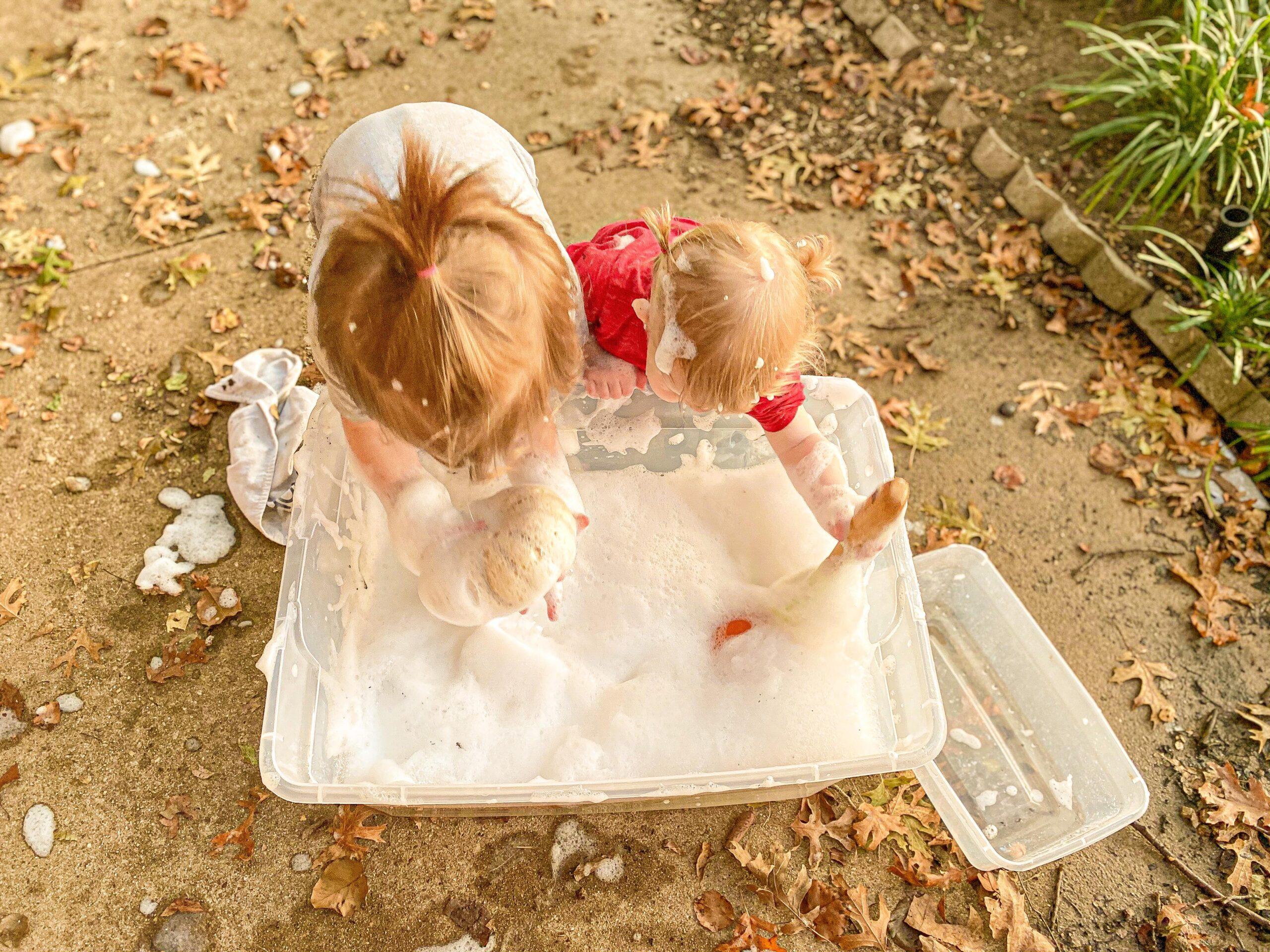 Wash the Pumpkins Sensory Activity