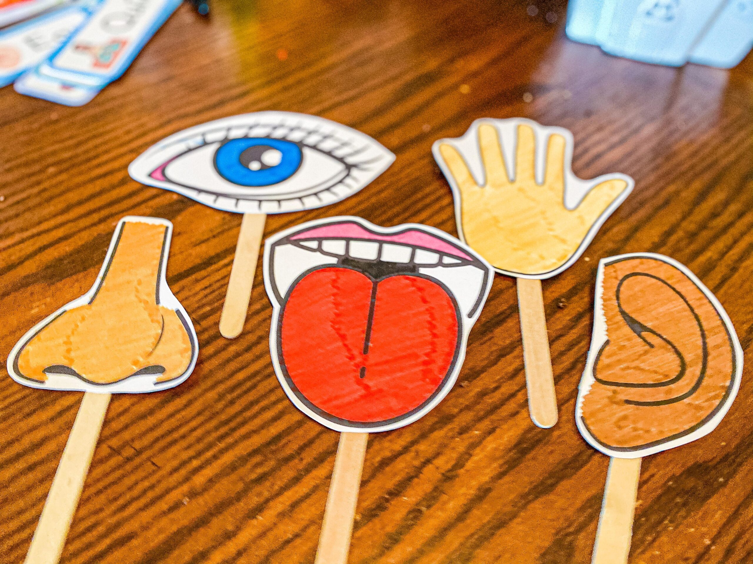 Five Senses Printable Puppets