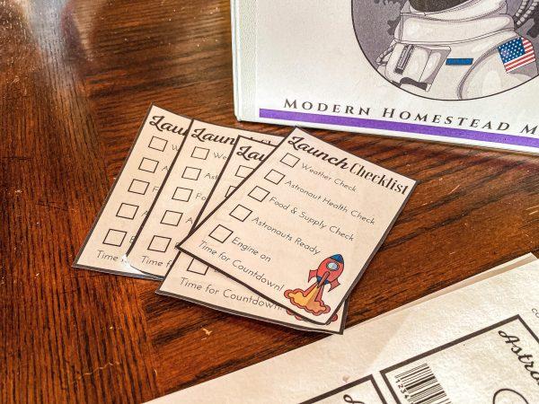 Astronaut Dramatic Play Bundle Launch Checklist for Kids