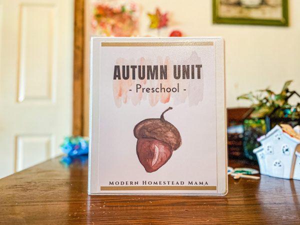 Autumn Unit for Preschoolers | Modern Homestead Mama