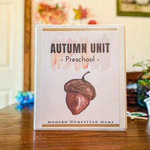 Autumn Unit for Preschoolers | Modern Homestead Mama