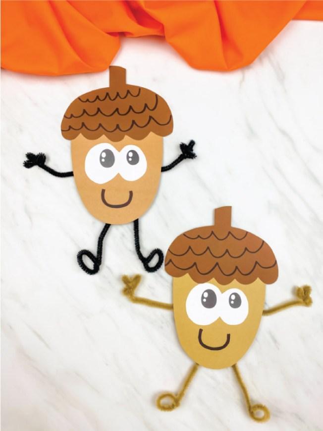 Cute Acorn Paper Craft