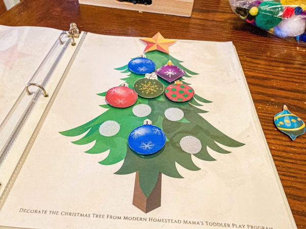 Decorate the Christmas Tree Printable for Toddlers