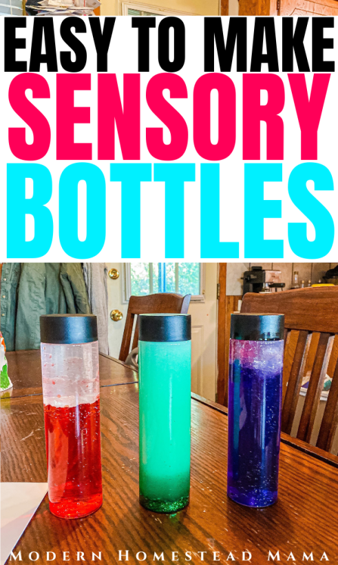 Easy Sensory Bottles for Toddlers & Preschoolers | Modern Homestead Mama