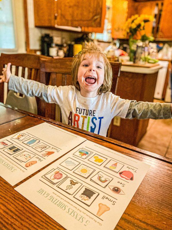 Five Senses Sorting Game Printable