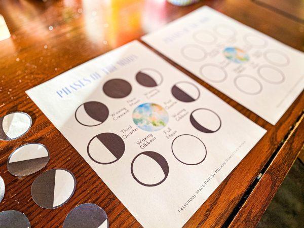 Moon Phases Worksheet Set