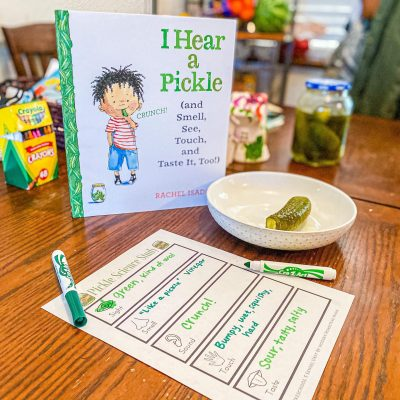 Pickle Science Study – Five Senses Activity