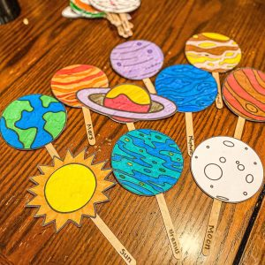 Planet Puppets Printable for Kids