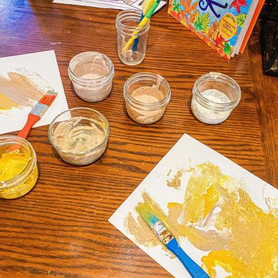 Sensory Spice Painting for Kids