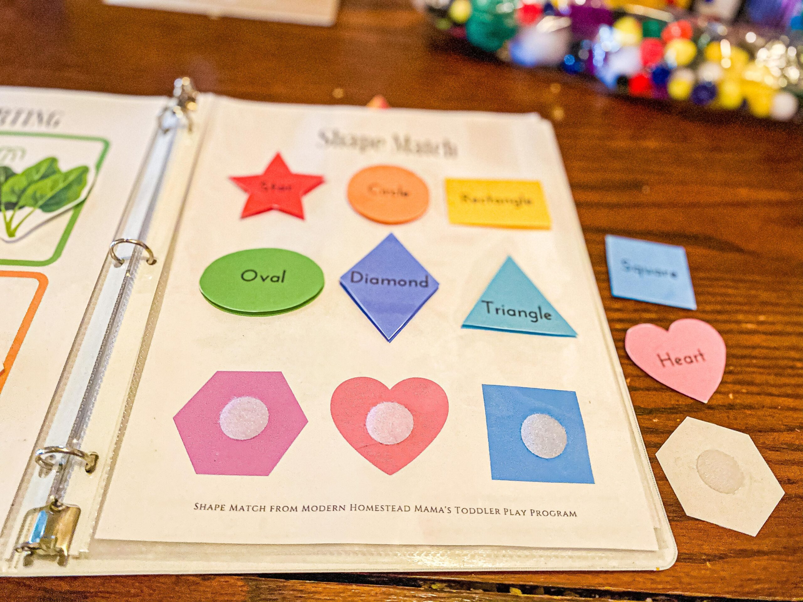 Shape Match Worksheet Printable for Toddlers