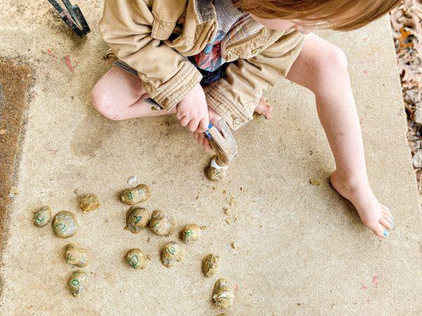 Smash the Moon Rocks Activity for Preschoolers
