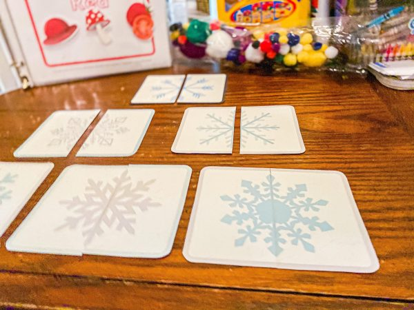 Snowflake Matching Game for Toddlers