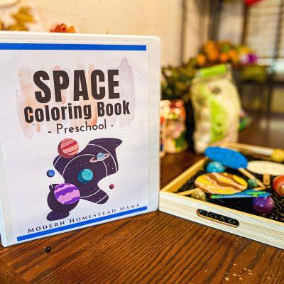 Space Coloring Book for Preschoolers
