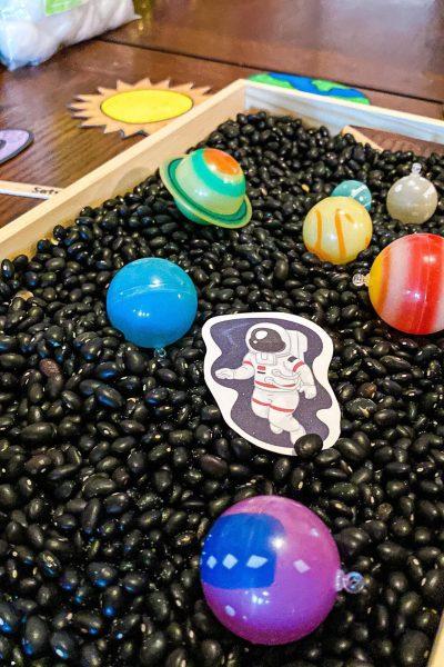 Space Sensory Bin for Preschoolers