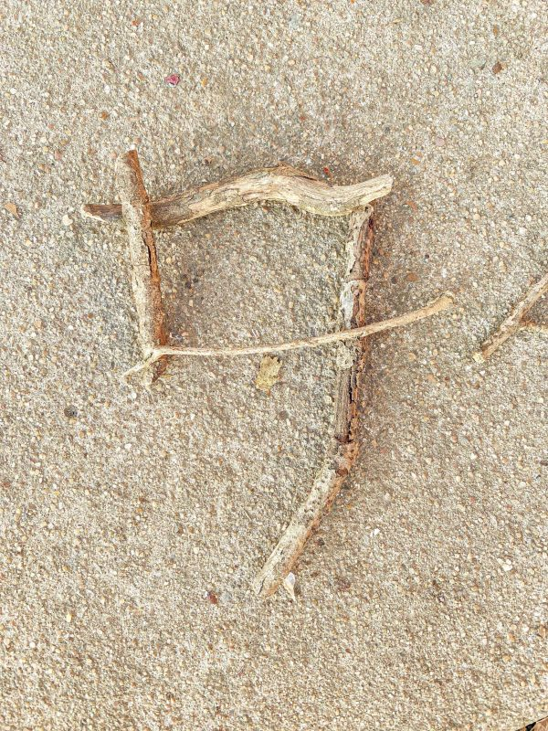 Stick Numbers Nature Activity for Kids