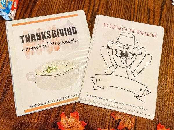 Thanksgiving Workbook for Preschoolers