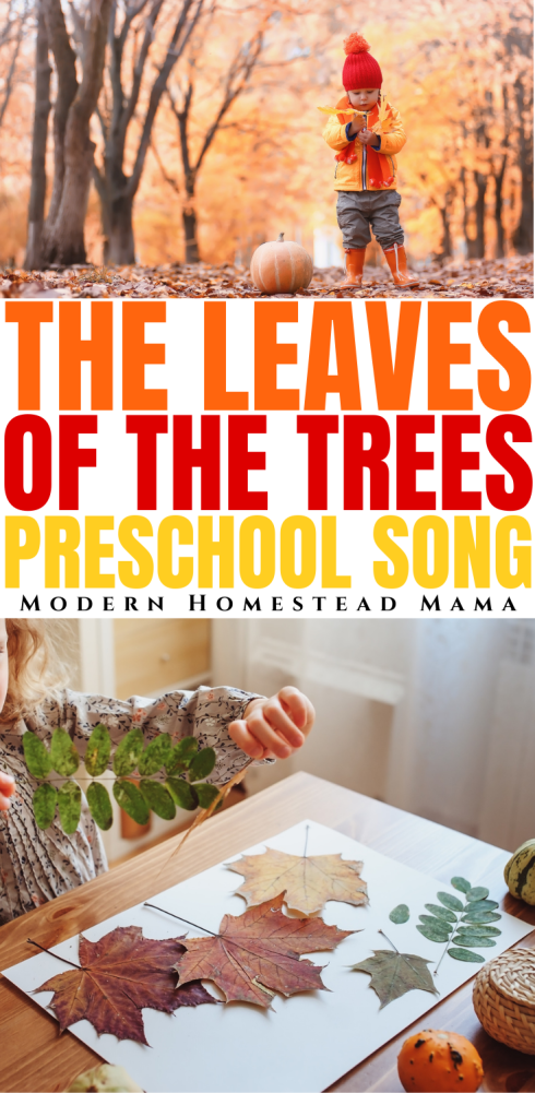The Leaves of the Trees Preschool Song | Modern Homestead Mama