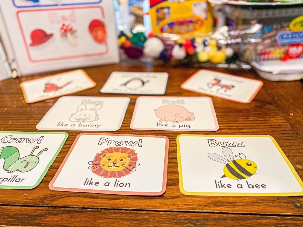 Toddler Movement Cards Printable