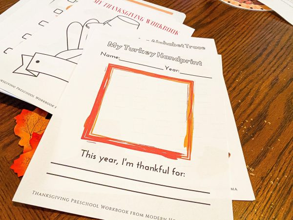 Turkey Handprint Keepsake